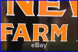 SCARCE 1930's NEW IDEA FARM EQUIPMENT PORCELAIN SIGN METAL SIGN GAS OIL LADY