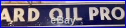 STANDARD OIL PRODUCT PORCELAIN STRIP SIGN. Original piece. 10 ft x 12 in
