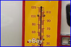 Shell Gas Motor Oil 39 Porcelain Thermometer Sign Route Texas Ford Gas Oi