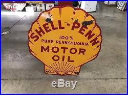 Shell- Penn Porcelain Motor Oil Sign