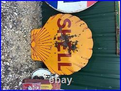 Shell gasoline porcelain sign