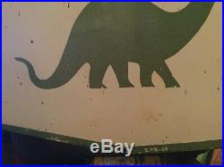 Sinclair Gas Oil Double Sided Porcelain Sign