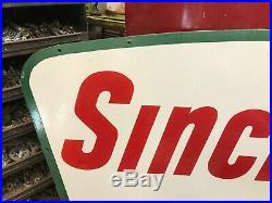 Sinclair Gasoline Large, Double Sided Porcelain Dealer Sign, (dated 1961)