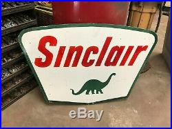 Sinclair Gasoline Large, Double Sided Porcelain Dealer Sign, (dated 1961)