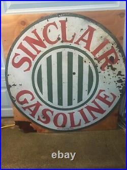 Sinclair Gasoline Porcelain48 authentic SSP org. 1920 Sinclair Older Stripe Gas