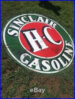 Sinclair HC Motor Oil Porcelain 6 Foot Sign, Gas Station Advertising