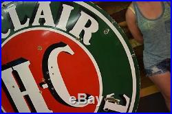 Sinclair HC Motor Oil Porcelain 6 Foot Sign WILL SHIP Gas Station Advertising