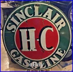 Sinclair HC sign porcelain 48inch Vintage