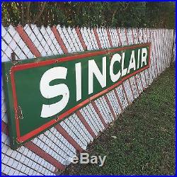 Sinclair Oil Company Vintage Porcelain Large Sign For Man cave Or Garage