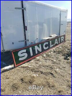 Sinclair Porcelain Rare 14 Foot 2 Piece Sign