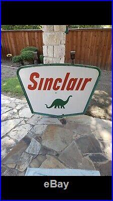 Sinclair Porcelain Sign Dino Original