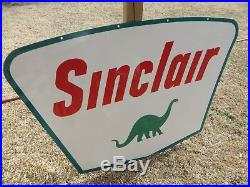 Smaller 3.5x5ft. IR 63 SINCLAIR PORCELAIN DINO SIGN Oil Gas Adv. MINT COND