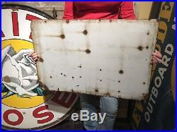 Socony Aircraft Oil Gas 30x20 Porcelain Sign Oils