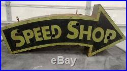 Speed Shop neon sign can painted not porcelain vintage gas oil