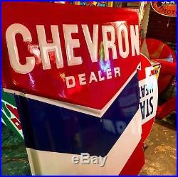 Standard Dealer 5' x 3' DSP Porcelain Sign Standard Oil Gas Signs