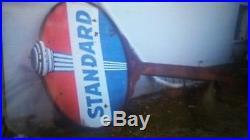 Standard Oil Porcelain Sign & Pole