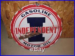 Sterling Motor Oil 2 Sided Porcelain Sign