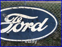 Super Rare FORD Tin Old Neon Sign Front Not Porcelain Advertising 6x3