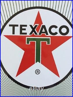 TEXACO DIESEL FUEL 2 Narrow Spray 18x12 PORCELAIN SIGN. Great Unused Pump Sign