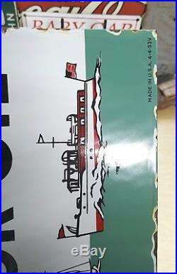 TEXACO MARINE MOTOR OIL porcelain sign vintage boat outboard oil dealer