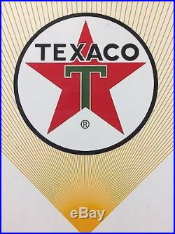 TEXACO YELLOW FUEL CHIEF 1 PORCELAIN PUMP PLATE/SIGN 18x12. Some Chips & RUST