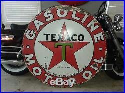 Texaco 42 Porcelain Sign Guaranteed Original