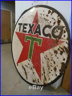 Texaco Double Sided Porcelain Sign (SHIPPING AVAILABLE SEE BELOW)