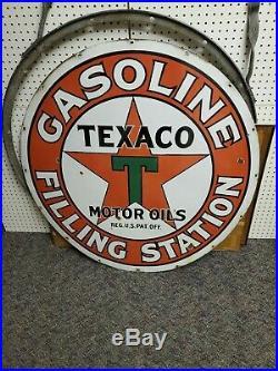 Texaco Filling Station Porcelain sign