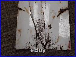 Texaco Fire Chief Porcelain Tin Gas Oil rusty Sign garage man cave pump plate