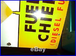 Texaco Fuel Chief 1 (Diesel Fuel) Porcelain sign