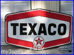 Texaco Porcelain Double Sided Sign over 7 feet long pickup only