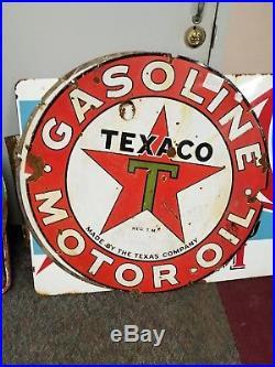 Texaco gasoline porcelain sign