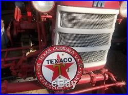 Texas CO gas and oil 12x12 Vintage Steel porcelain old sign
