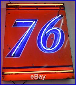 Union 76 gasoline porcelain sign rare