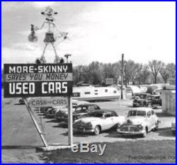 Used Cars Dealership Porcelain Neon Animated Sign 1940s Original Neon