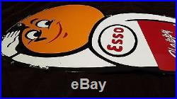 Vintage Esso Oil Drop Boy Gasoline Large Porcelain Gas Station Sign Lubester