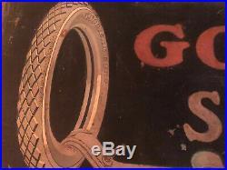 VINTAGE GOOD YEAR SMALTZ SIGN TIRES TIRE RACING GARAGE 1920s