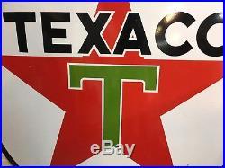 VINTAGE TEXACO double-sided porcelain sign 6