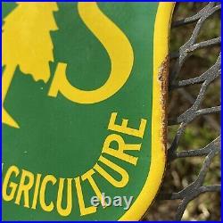 VINTAGE US FOREST SERVICE PORCELAIN SIGN Dept Of AGRICULTURE STATE PARK OIL GAS