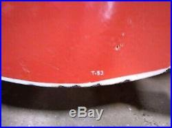 VTG Mobil Pegasus Gas Figural Sign Left Porcelain Original Flying Horse IR 1953