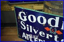 Vintage 1930's Goodrich Tires Gas Station Porcelain Sign Atler's Service Station