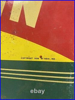 Vintage 1936 Nehi Royal Crown Porcelain Cola Soda Pop Drink Gas Oil Flange Sign