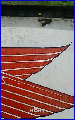 Vintage 1936 SOCONY PEGASUS SHIELD SIGN (DOUBLE-SIDED) Enamel/Porcelain