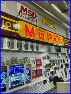 Vintage 1940's NEON Porcelain Mopar Lighted Sign Original VERY NICE NEED TO LOOK