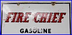 Vintage 1961 Porcelain Texaco Fire Chief Gas Fuel Pump Advertising Sign Rare