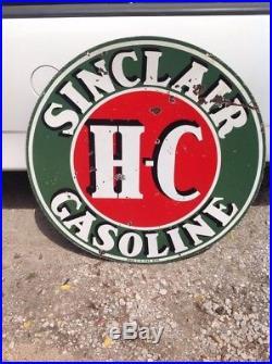 Vintage 48 Double Sided Porcelain Sinclair Gasoline Sign