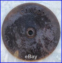 Vintage CONOCO Cast Iron Sign Base Gas Lollipop Porcelain Station Motor Oil