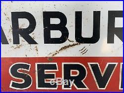 Vintage Carter Carburetor Service 2 Sided Porcelain Advertising Sign Rare