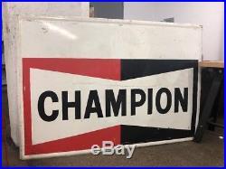 Vintage Champion Spark Plug Porcelain Sign Service Station Advertisement Gas Oil