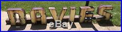 Vintage Davies Porcelain Neon Sign Channel Letters